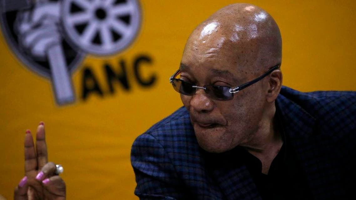File photo shows South Africa's President and ANC president Jacob Zuma at the party's three-day National Executive Committee (NEC) meeting in Pretoria. (Reuters)