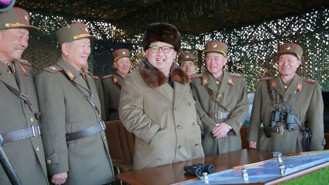Over the past month, North Korean leader Kim Jong-Un has supervised several military drills, including the test-firings of medium ballistic missiles, a multiple rocket system and long-range artillery. (AFP)