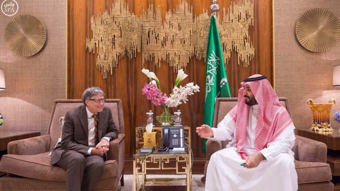 ولي ولي العهد الأمير محمد بن سلمان والرئيس المشارك لمؤسسة بيل ومليندا غيتس