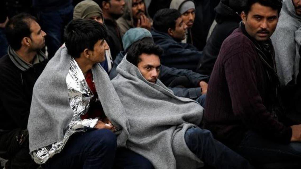 لاجئون في اليونان
