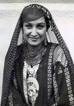 شارلوت واصف ملكة جمال مصر عام 1935