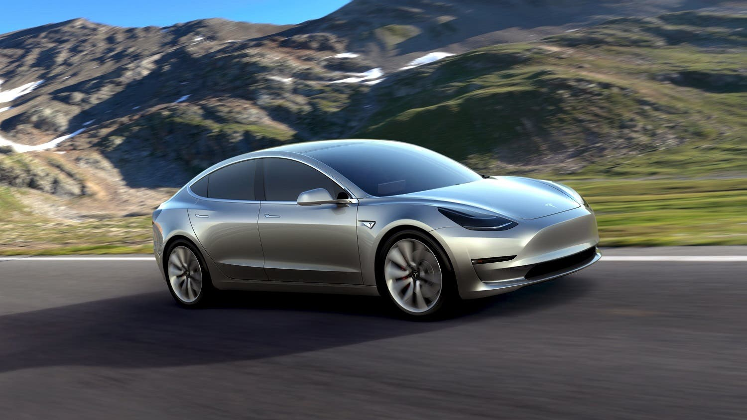 A Tesla Motors mass-market Model 3 electric car is seen in this handout picture from Tesla Motors. (Reuters)