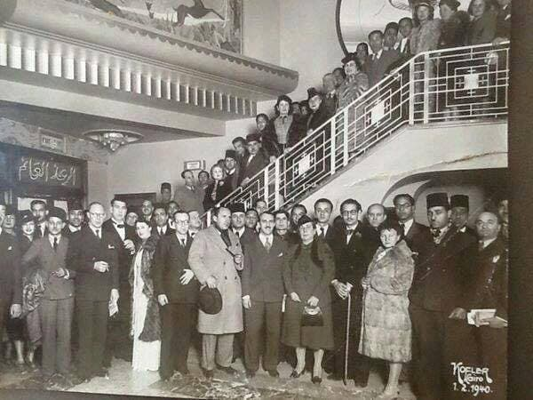 رواد سينما مصرية في الاربعينيات