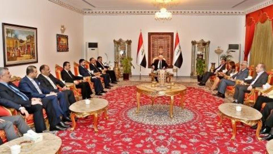 معصوم يجتمع باتحاد القوى العراقية