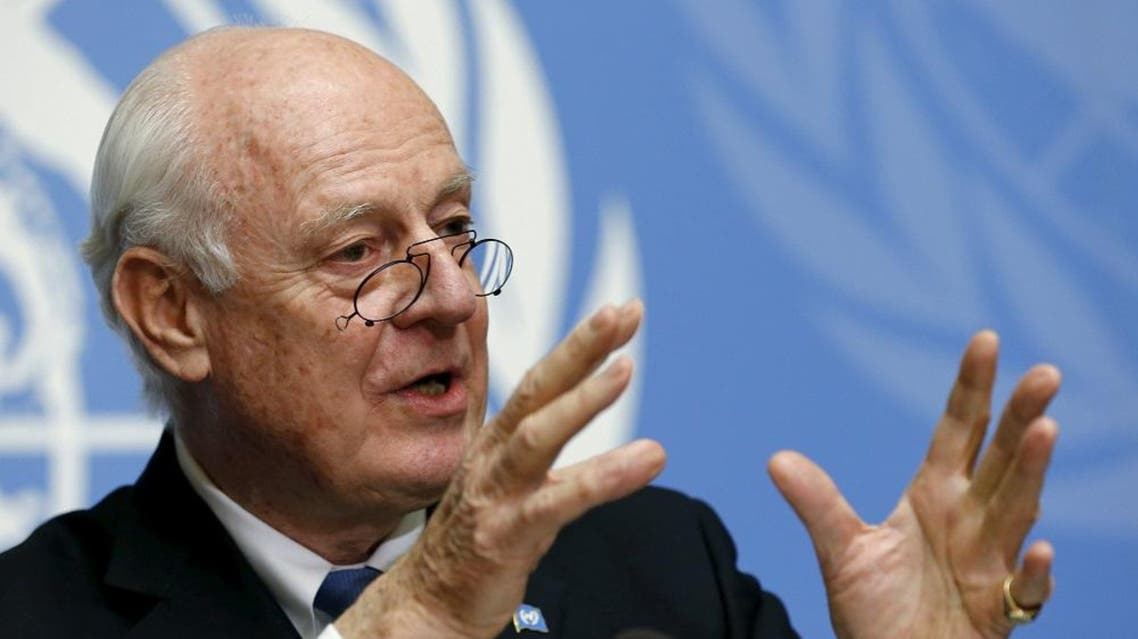 U.N. mediator for Syria, Staffan de Mistura gives a news conference at the end of the Syria peace talks at the United Nations in Geneva, Switzerland, March 24, 2016 (Reuters)