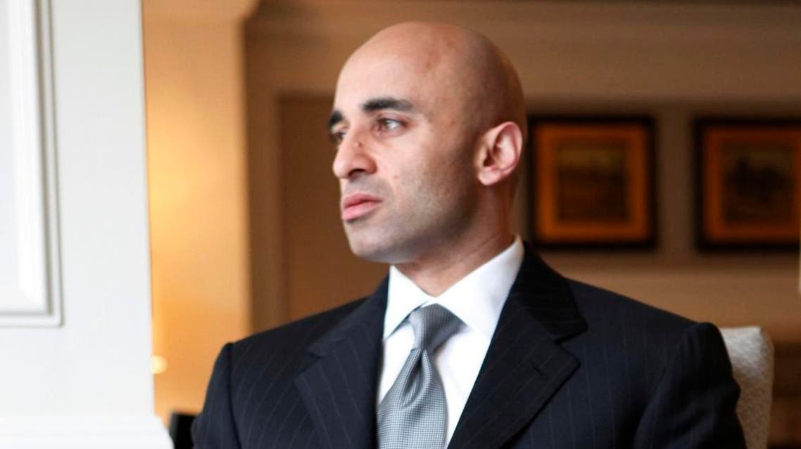 In this Friday, Feb. 13, 2009, photo, United Arab Emirates Ambassador to the U.S. Yousef al Otaiba, is seen during his interview with the Associated Press in Washington. With Capitol Hill soon to review a deal to send American nuclear power technology to the U.A.E., the oil-rich nation has enlisted a pair of heavyweight lobbying firms to convince lawmakers the agreement won't be a boost to neighboring Iran's pursuit of atomic weapons. (AP Photo/Pablo Martinez Monsivais)