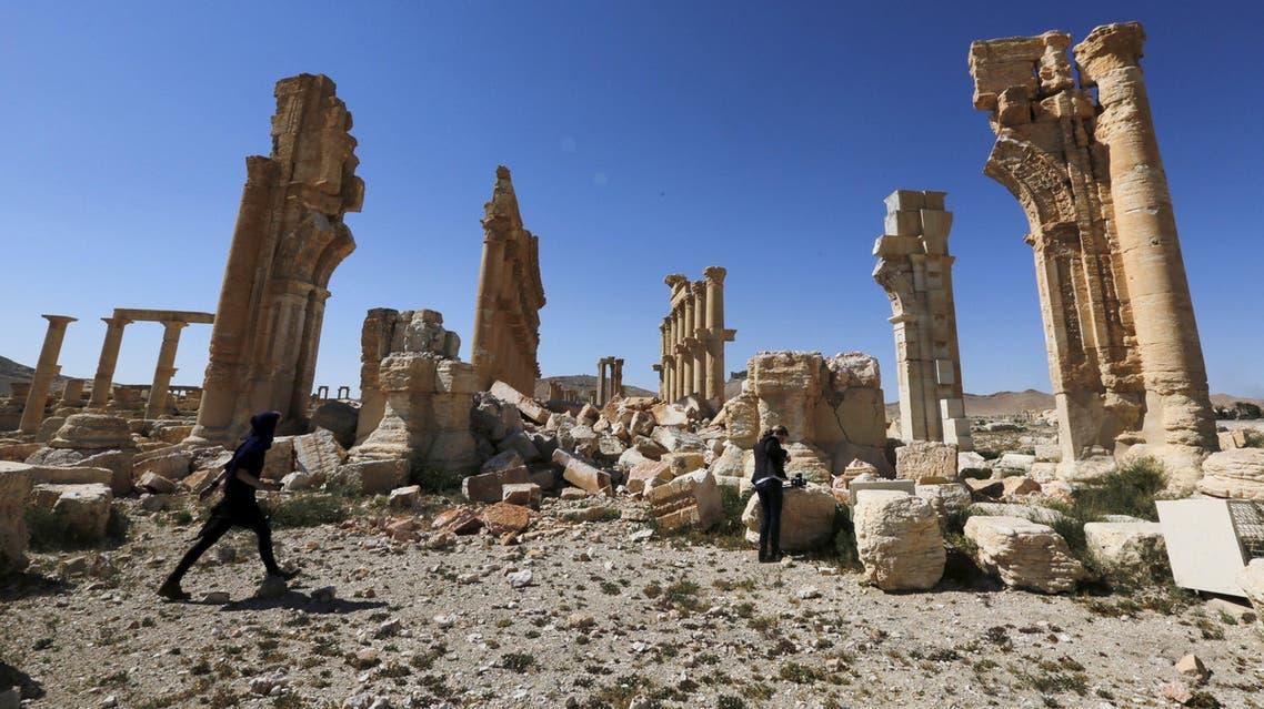 تدمر التي فرّ منها الارهابيون بعد تدميرها