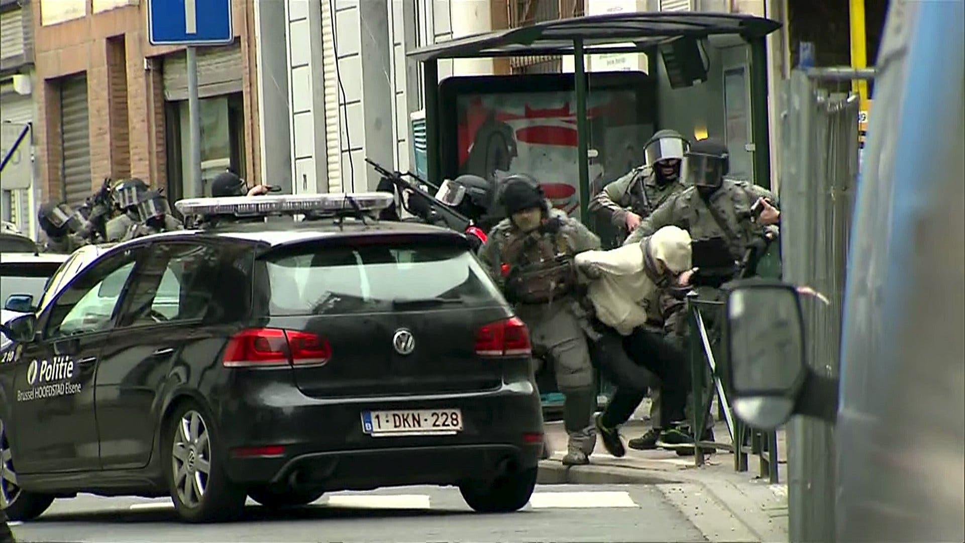 من عملية قبض الأمن البلجيكي على صلاح عبدالسلام