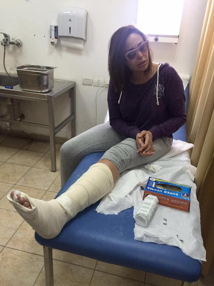 داليا البحيري في المستشفى