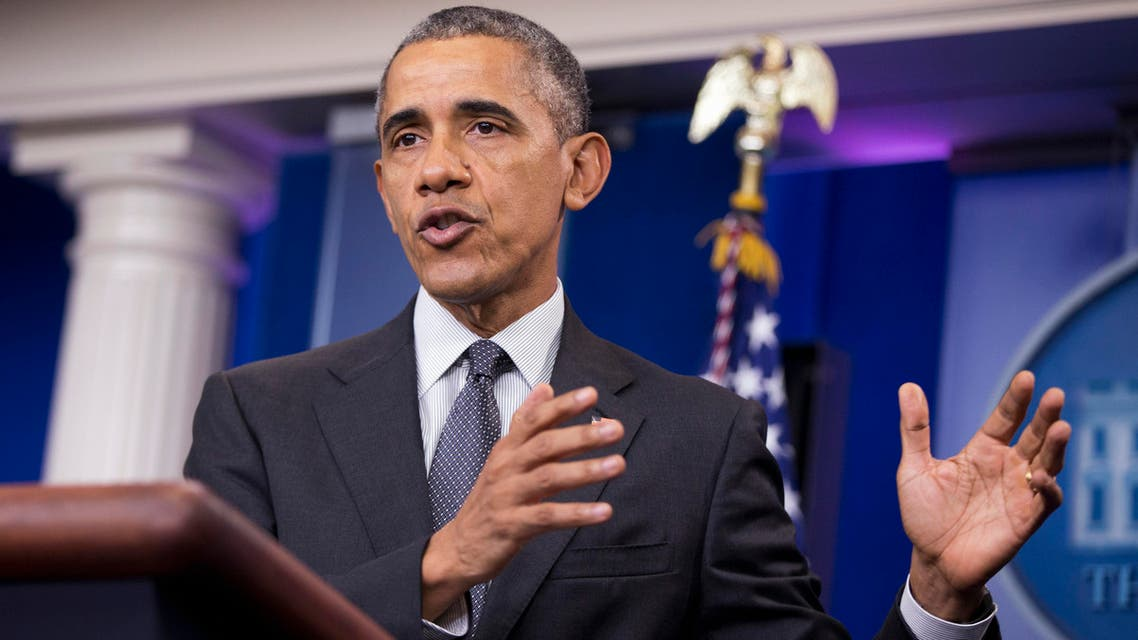 President Barack Obama speaks about the new rules aimed at deterring tax inversions, Tuesday, April 5, 2016, in the Brady Press Briefing Room at the White House in Washington. (AP)
