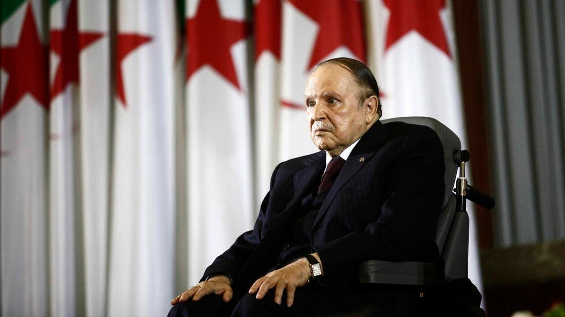 President Abdelaziz Bouteflika looks on during a swearing-in ceremony in Algiers April 28, 2014. (Reuters)