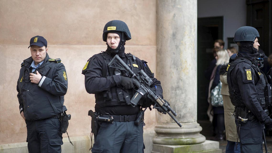 Danish police stand guard in Copenhagen, Denmark, in this March 10, 2016 file photo. reuters