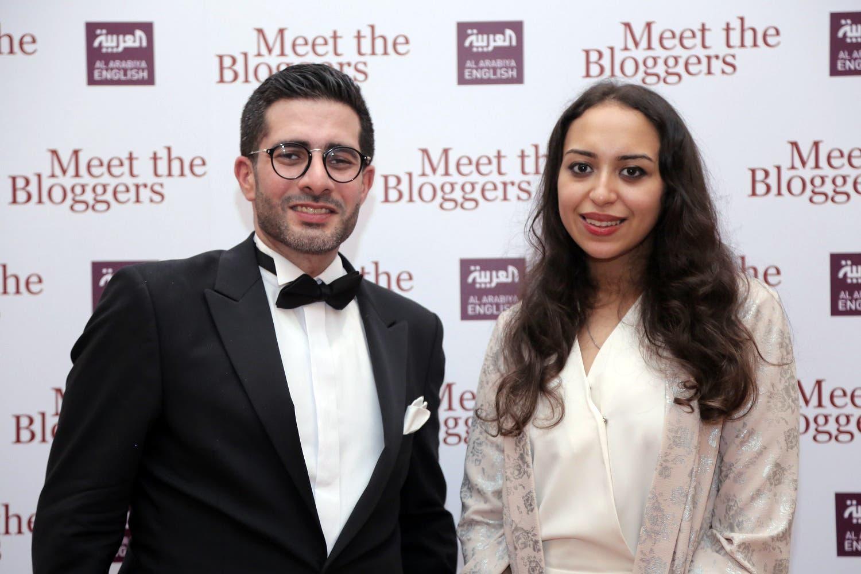 Al Arabiya English's Editor-in-Chief Faisal J. Abbas with the blogs editor Eman El-Shenawi. (Al Arabiya English)