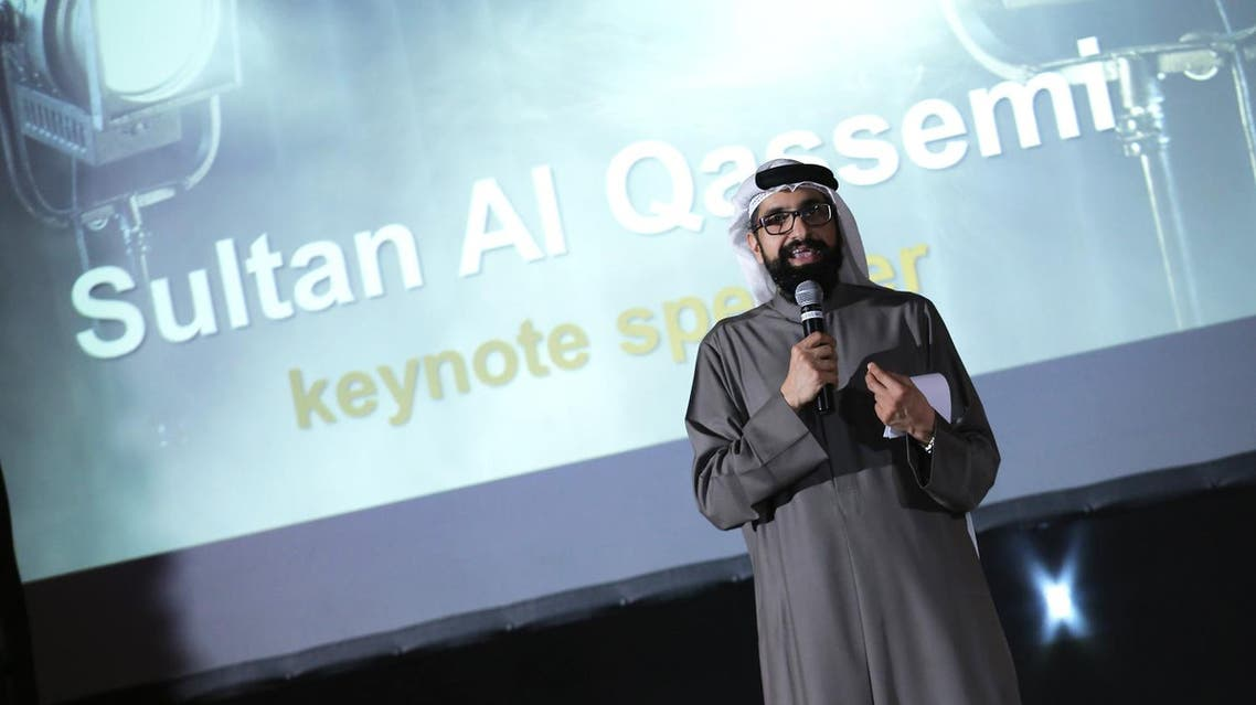 Giving the key note speech at the launch was renowned blogger Sultan al-Qassemi, a commentator on Arab affairs and art in the region. (Al Arabiya English)