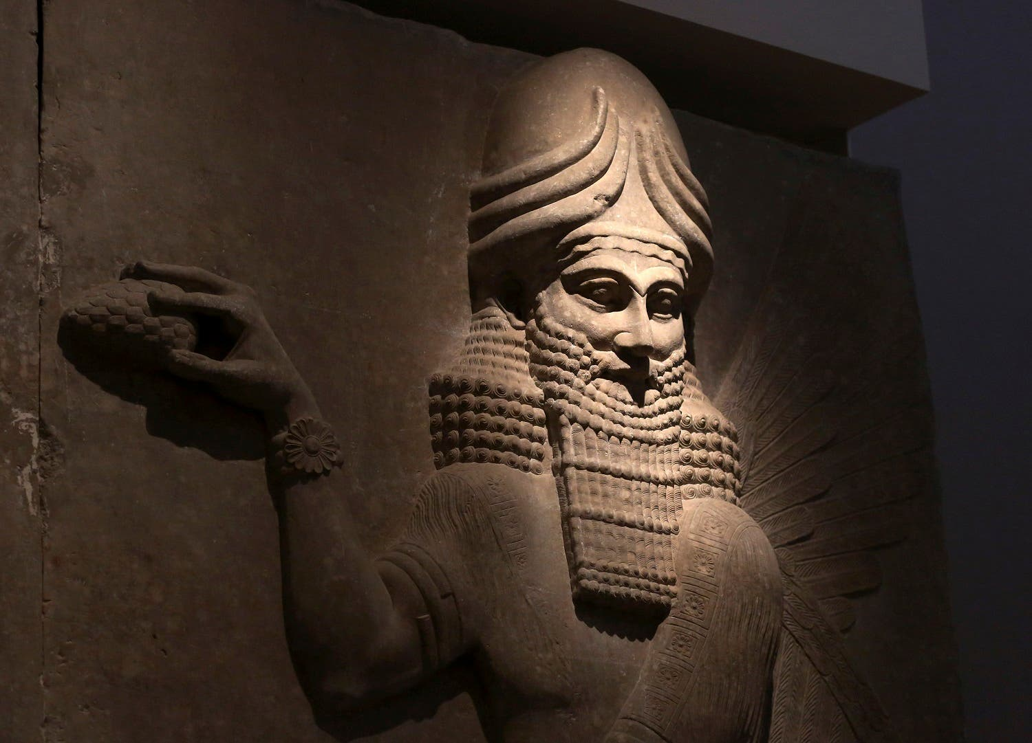 n this Wednesday, July 29, 2015 file photo, an Assyrian artifact is displayed at the Iraqi National Museum in Baghdad, Iraq. (AP)