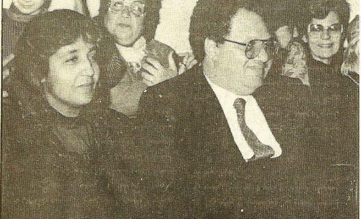 الفخراني وزوجته في السيعينيات