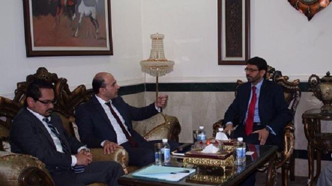 رئيس هيئة النزاهة العراقي مع الوفد الأممي