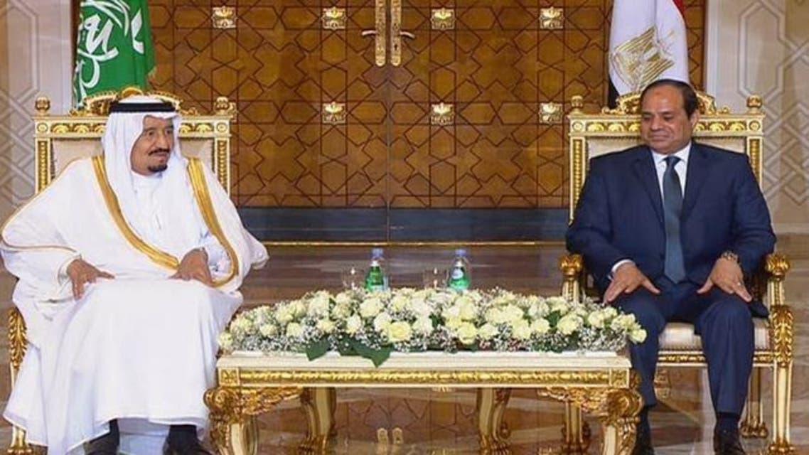 الملك سلمان والسيسي في مصر