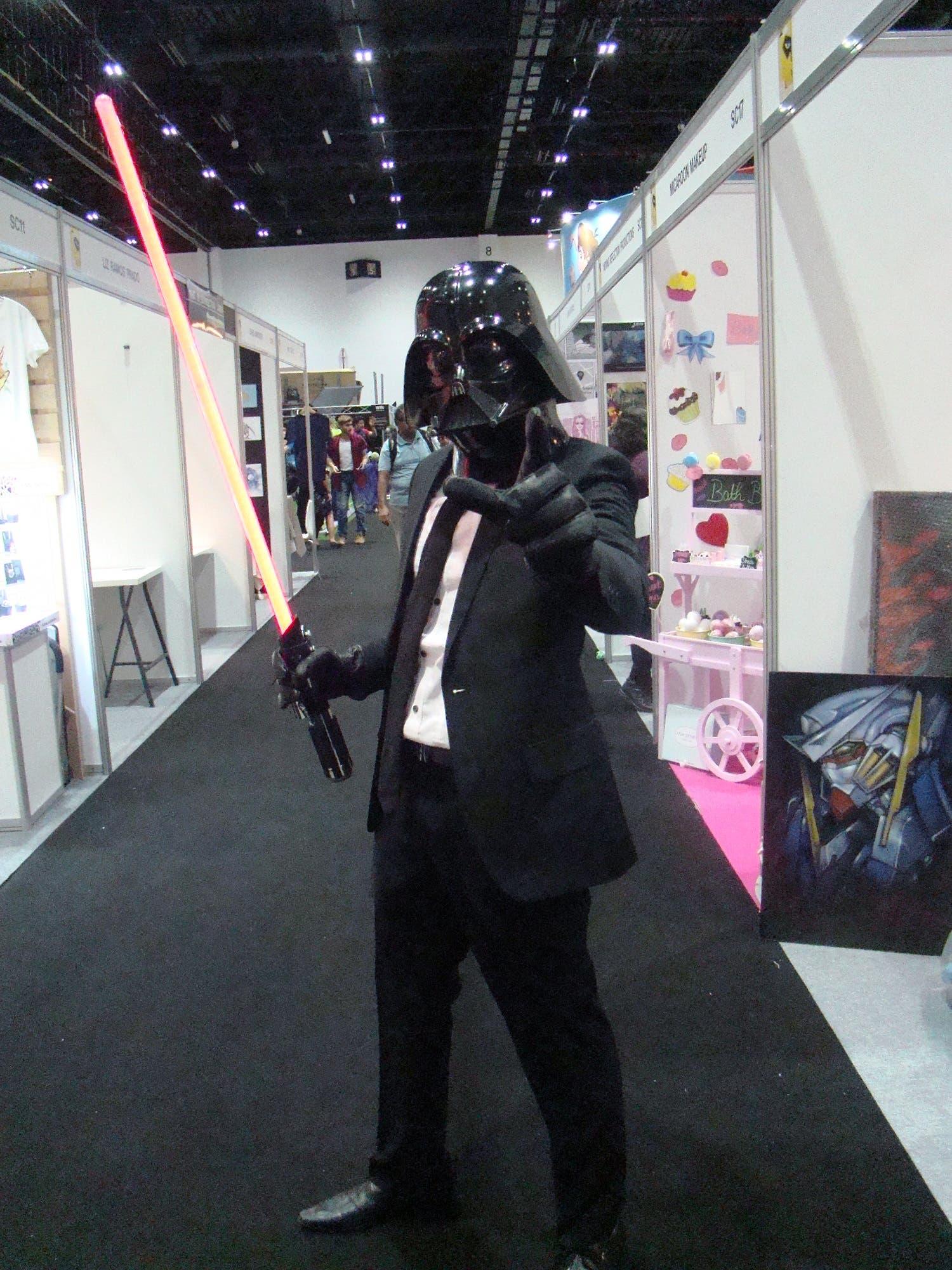 A cosplayer for suited up Darth Vader at MEFCC 2016. (Tarek Ali Ahmad, Al Arabiya English)