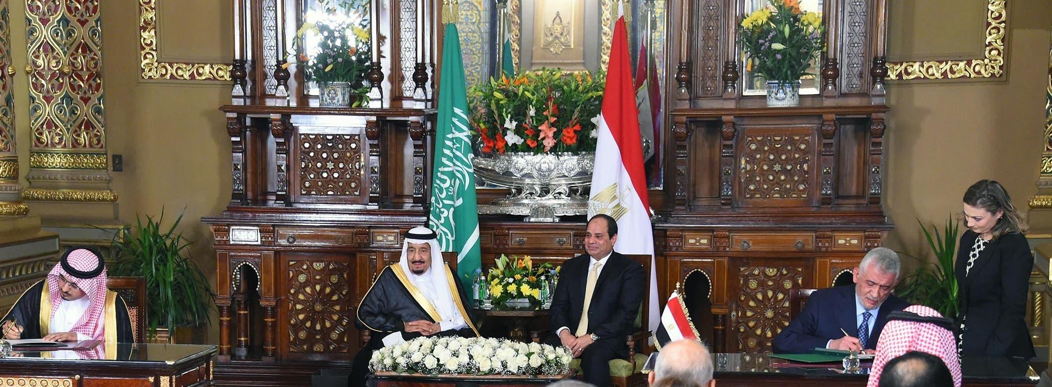 الملك سلمان والرئيس السيسي واتفاقيات في مجالات عديدة