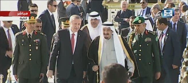 الملك مع أردوغان تركيا