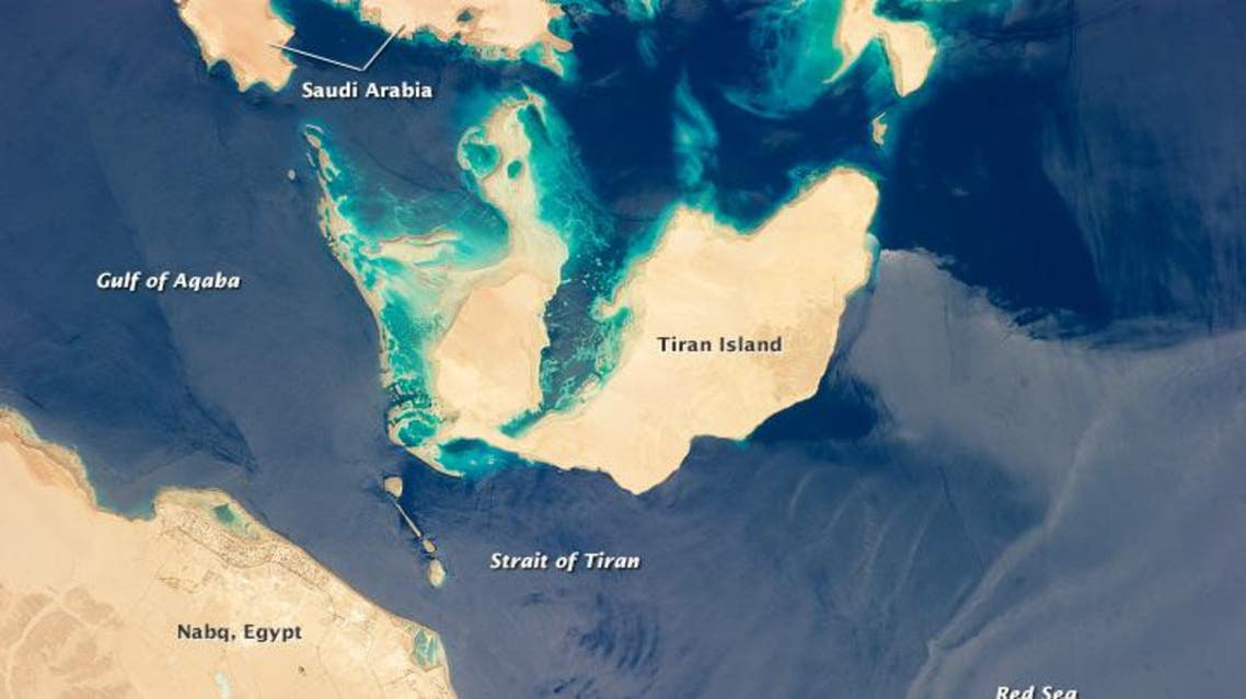 For observers standing on Tiran island, history seems insignificant compared to the geo-strategic importance of the Tiran Straits. (Photo courtesy: NASA)