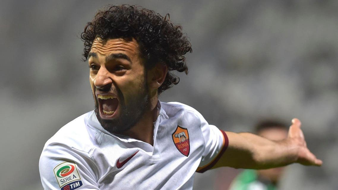 The Egyptian sent an early header crashing against the woodwork and Stephan El Shaarawy's headed goal from the rebound was ruled offside. (AP)