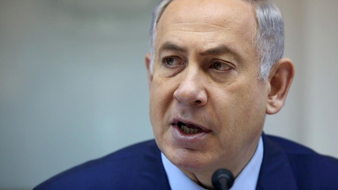 Israeli Prime Minister Benjamin Netanyahu listens during the weekly cabinet meeting in Jerusalem, Sunday, April 10, 2016. (Gali Tibbon/Pool Photo via AP)