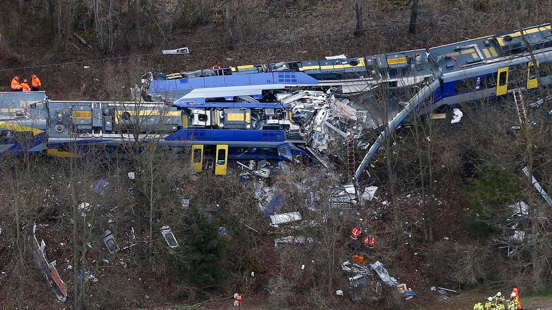 This Tuesday, Feb. 9, 2016 file photo shows an aerial view of rescue teams at the site where two trains collided head-on near Bad Aibling, Germany, killing 11 people (File Photo: AP)