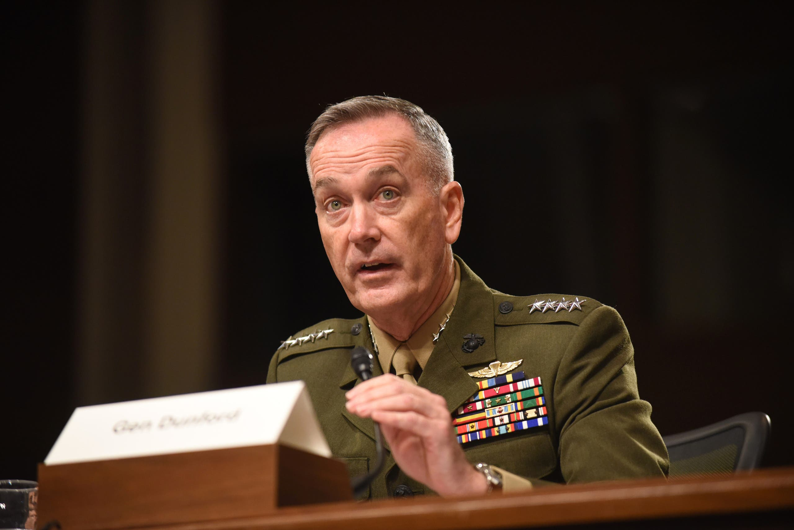 General Joe Dunford (pictured), who is chairman of the Joint Chiefs of Staff and serves as the top military advisor to Defense Secretary Ash Carter. (File photo: AP)