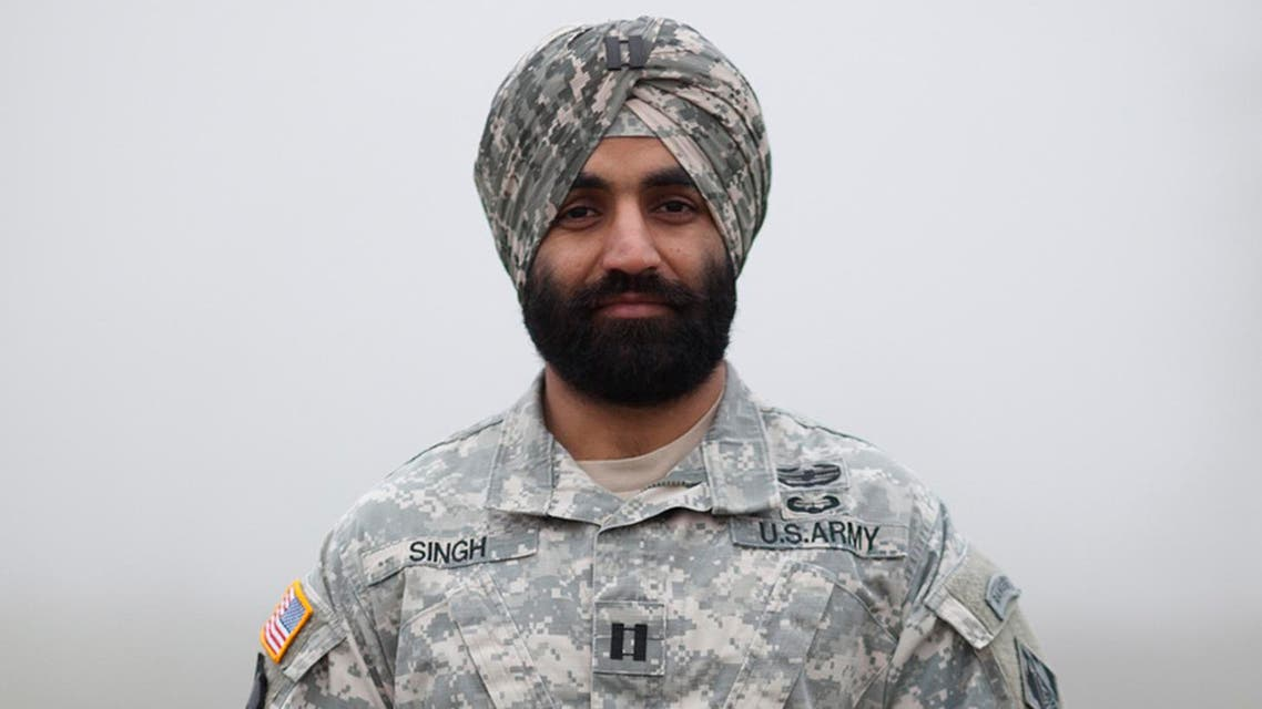 This photo provided by the Sikh Coalition shows Army Capt. Simratpal Singh. (AP)