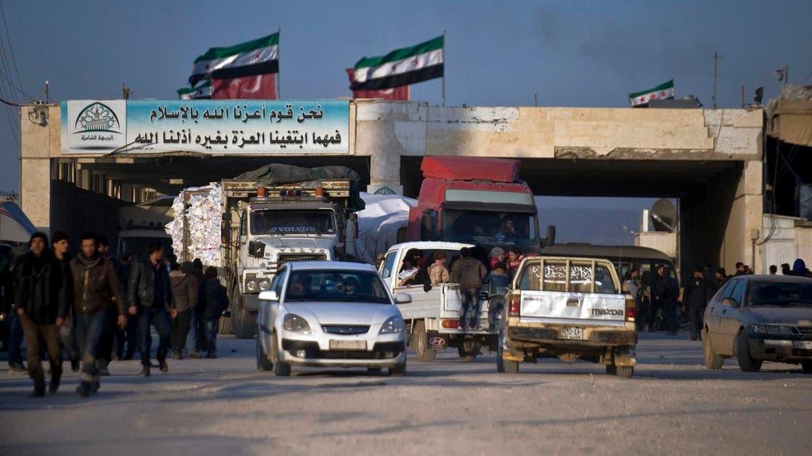 Bab salam border turkey syria AP