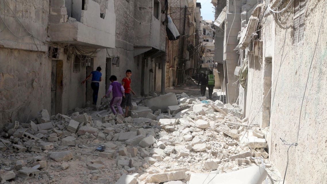 syria aleppo damage reuters