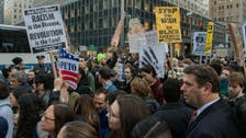 Hundreds protest against Donald Trump in New York