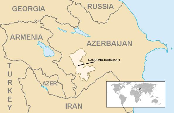 منطقة ناغورني قره باغ المتنازع عليها بين أرمينيا وأذربيجان