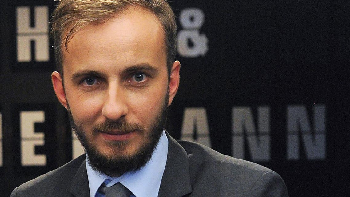 In this Aug. 28, 2012 file photo comedian Jan Boehmermann hosts the talk show Roche & Bohmermann in Cologne, western Germany. (AP)