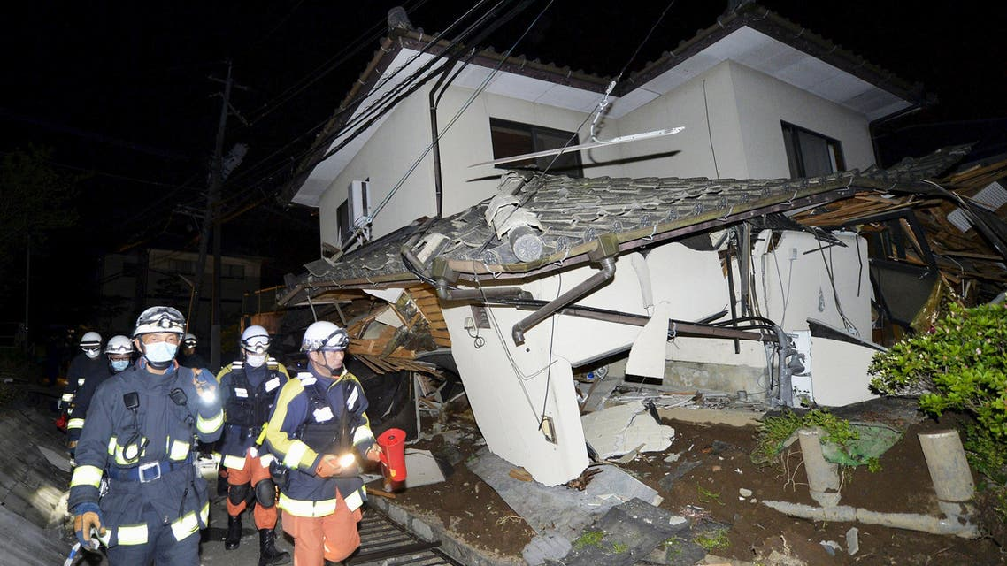 The initial tremor struck 11 km (7 miles) east of the city of Kumamoto,