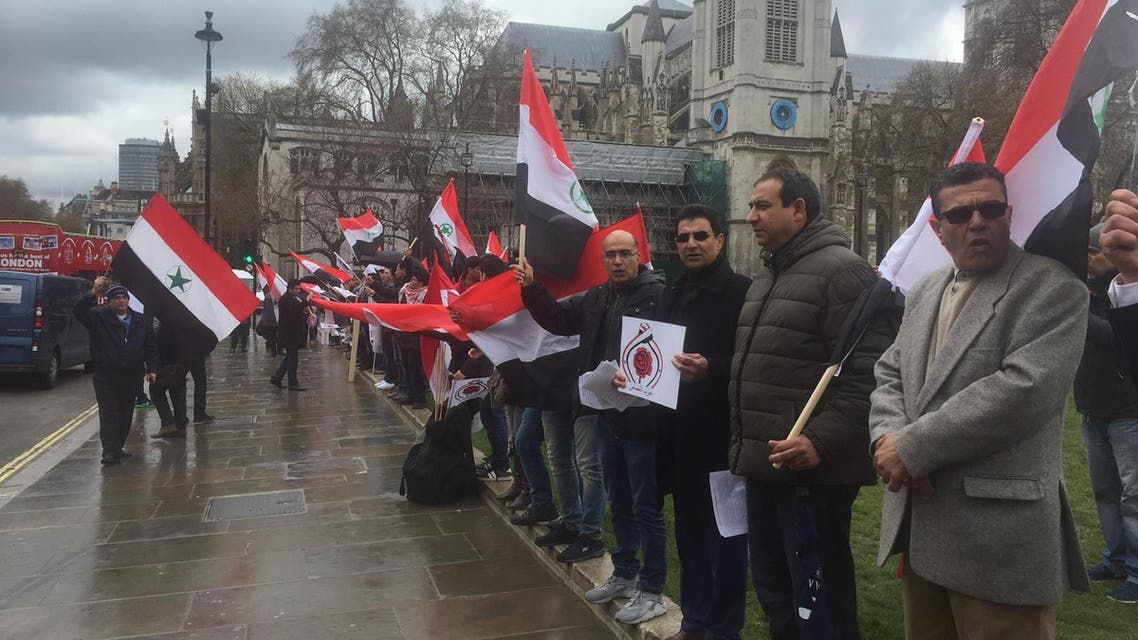 الأهوازيون يتظاهرون في لندن تنديداً بممارسات طهران