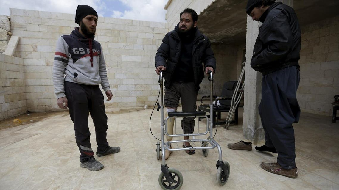 Syria's mobile amputee clinic