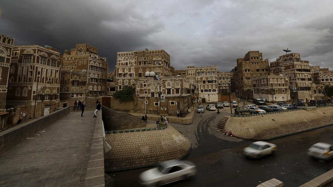 Cars drive in the old quarter of Yemen's capital Sanaa April 9, 2016. (Reuters)