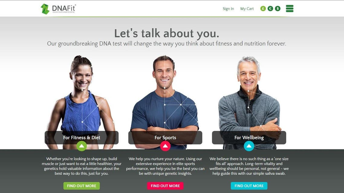 DNAFit (Screengrab from DNAFit.com)