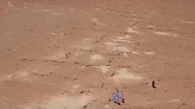 بالفيديو: بقايا آثار حجرية في القصيم