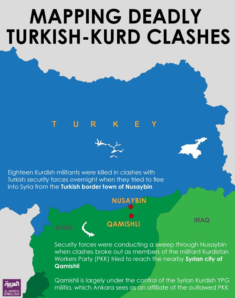 Infographic: Mapping deadly Turkish-Kurd clashes