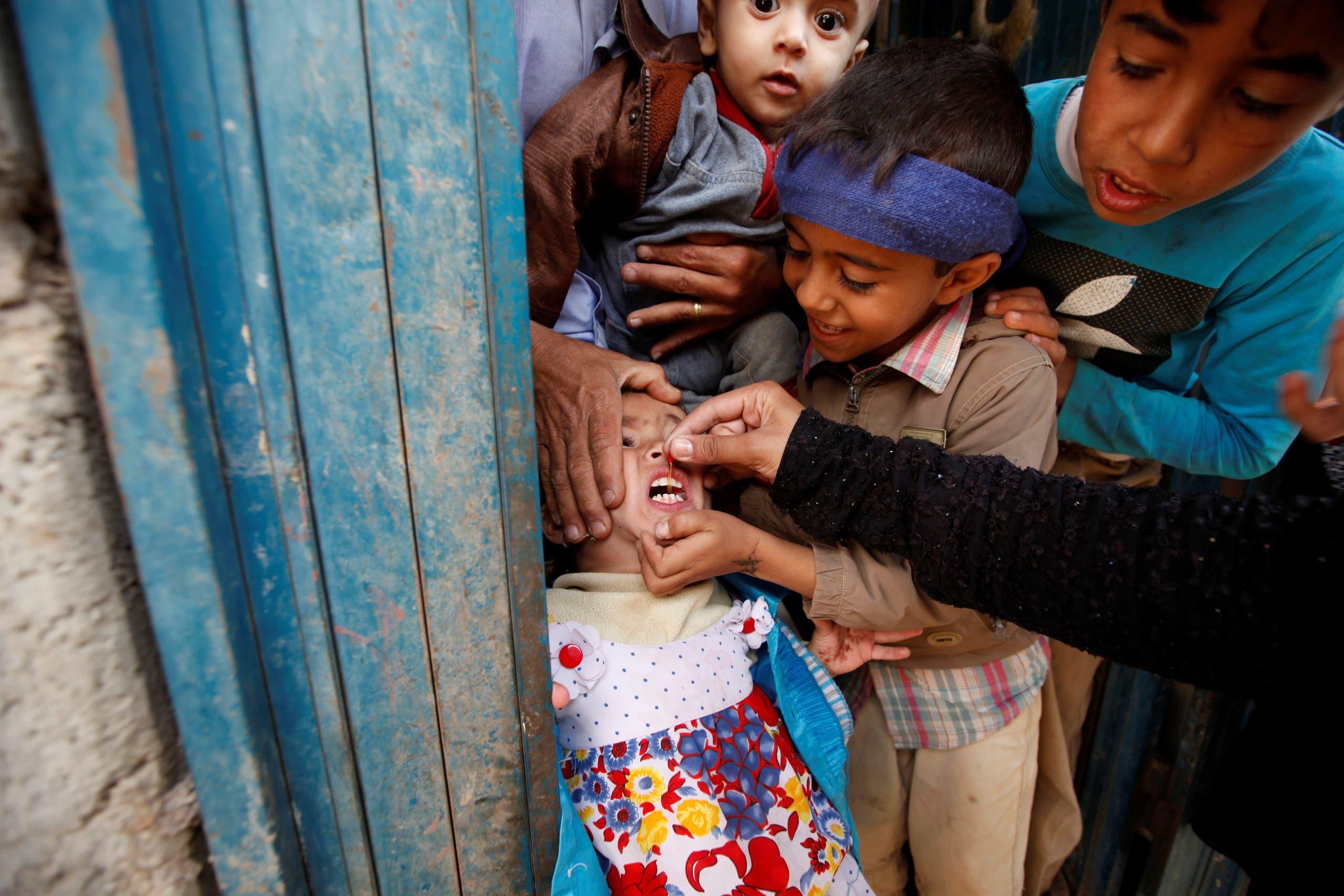 Polio vaccination campaign in Yemen