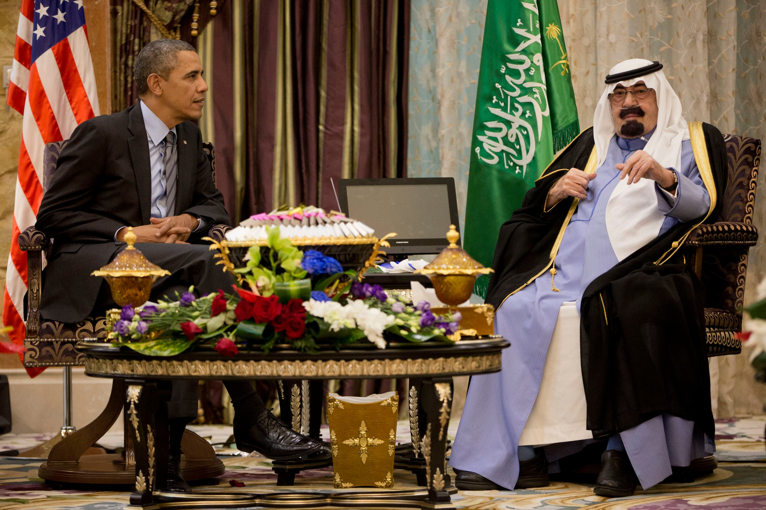 In this March 28, 2014 file photo, US President Barack Obama meets with Saudi King Abdullah (File Photo: AP)