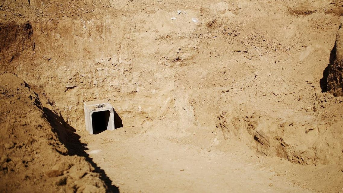 The tunnels toward Egypt are generally used for smuggling into and out of the Gaza Strip, which is under an Israeli blockade. (Reuters)