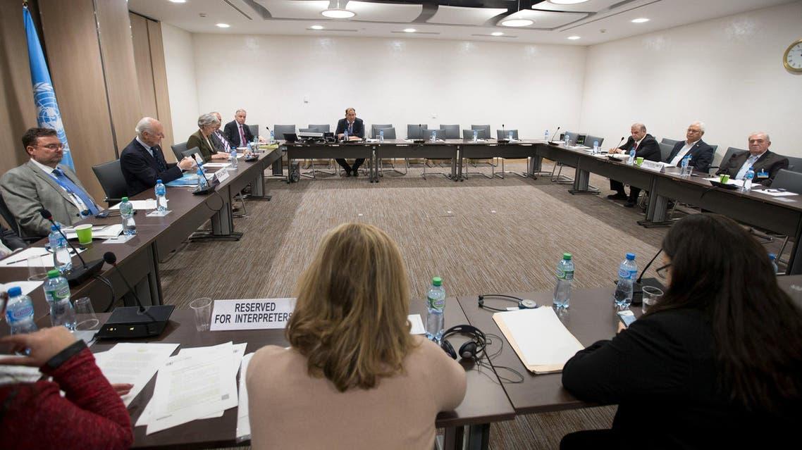 جانب من مفاوضات جنيف سوريا المعارضة السورية المفاوضات السورية المباحثات السورية