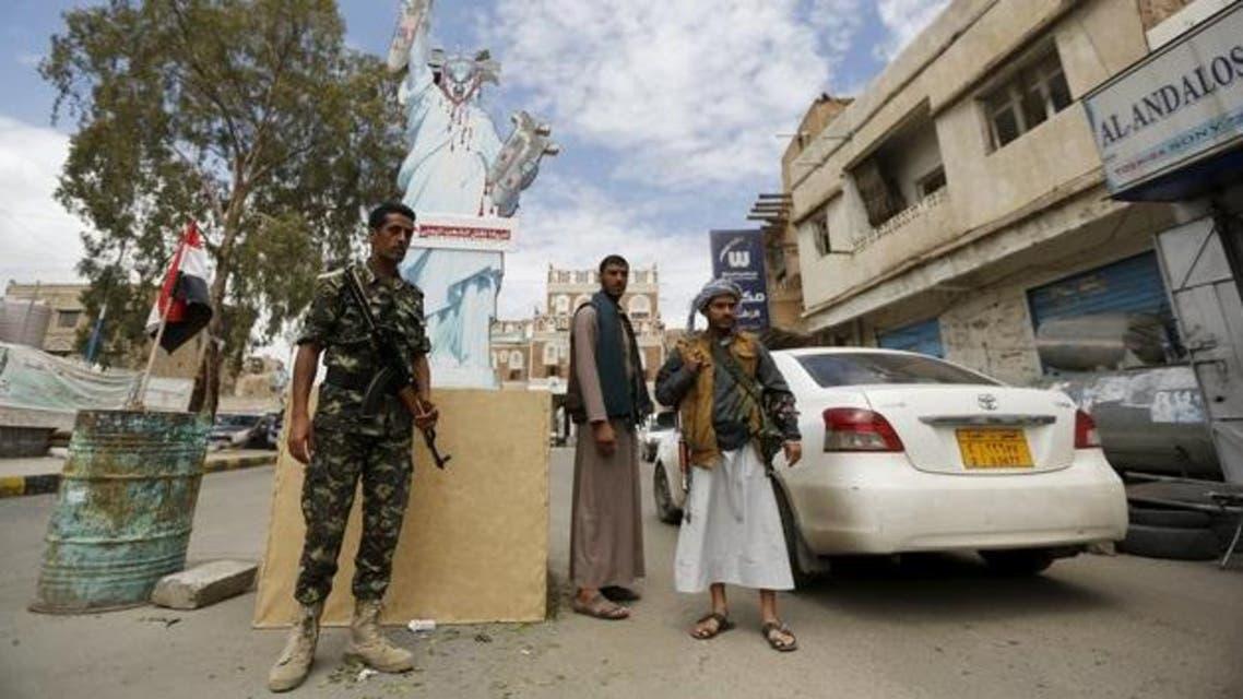 أحد عناصر ميليشيات الحوثي في صنعاء