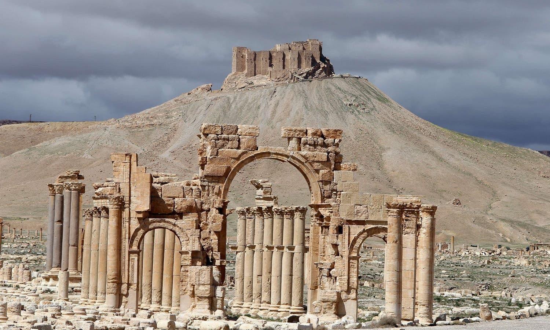 Palmyra's Arch of Triumph (AFP)