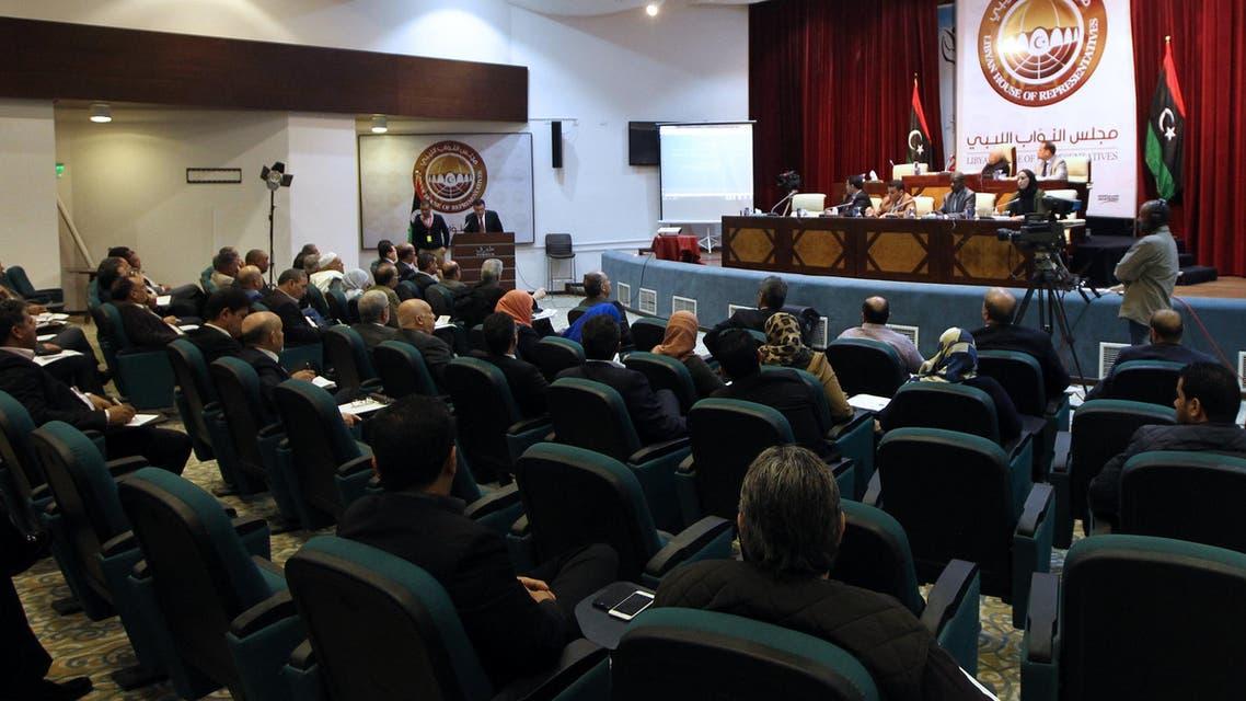 فايز السراج رئيس حكومة الوفاق الليبية في جلسة للبرلمان الليبي في طبرقالبرلمان الليبي برلمان ليبيا طبرق مجلس النواب